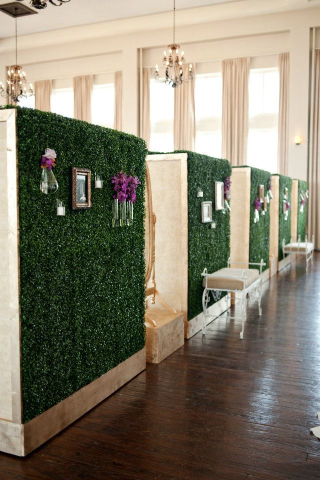 Set Of 5 Boxwood Hedge Walls Architectural Elements