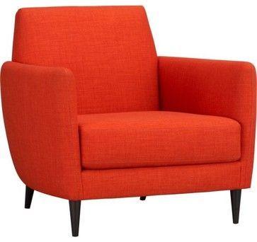 $700 Parlour Tangerine Chair Modern Armchairs