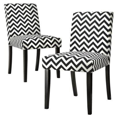 Phenomenal Uptown Dining Chair Set Of 2 Black White Chevron From Bralicious Painted Fabric Chair Ideas Braliciousco