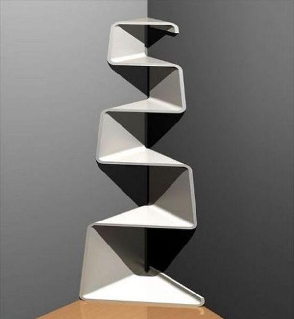 Eckregal design weiß modern platzsparende idee | Ideen rund ...