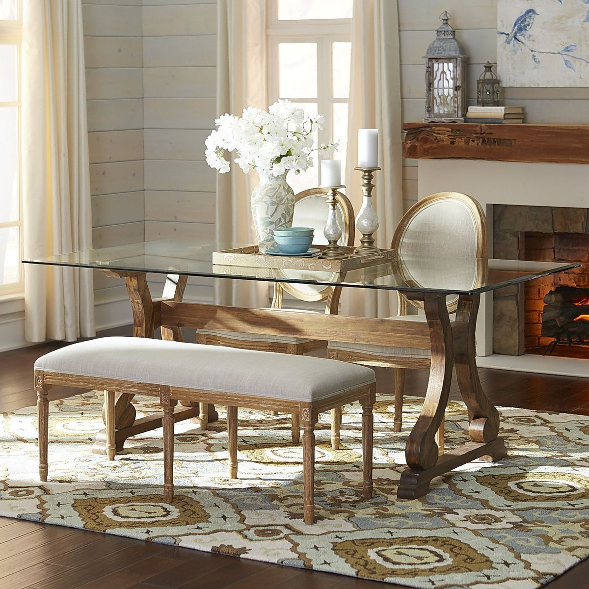 Beau Marchella Glass Table Top Dining Set | Pier 1 Imports