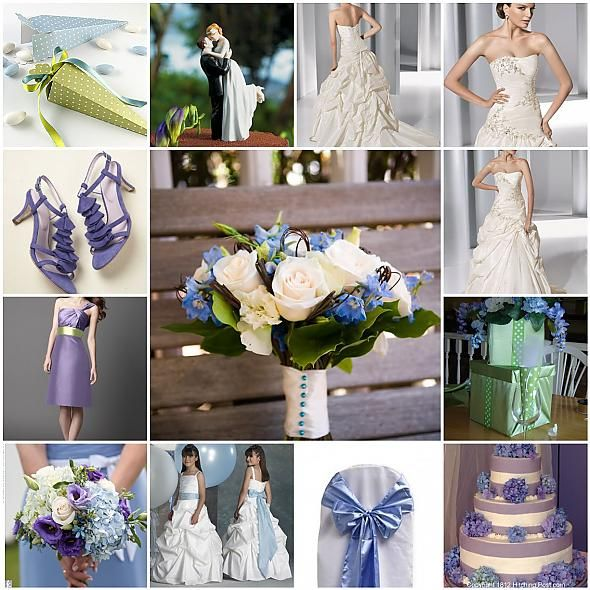 periwinkle and lime wedding
