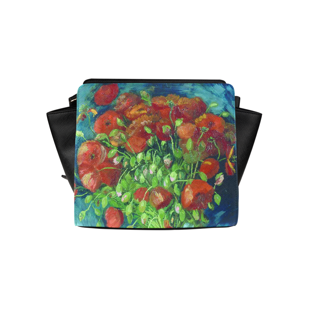 Vincent van Gogh Red Poppies Floral Art Satchel Bag (Model 1635)