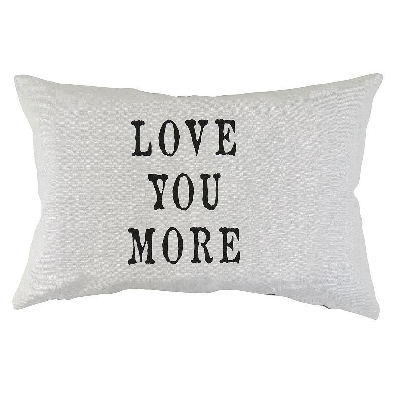 Park B. Smith ''Love You More'' Throw Pillow, Black