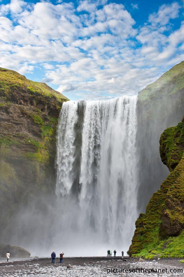 Spectacular waterfall, Iceland