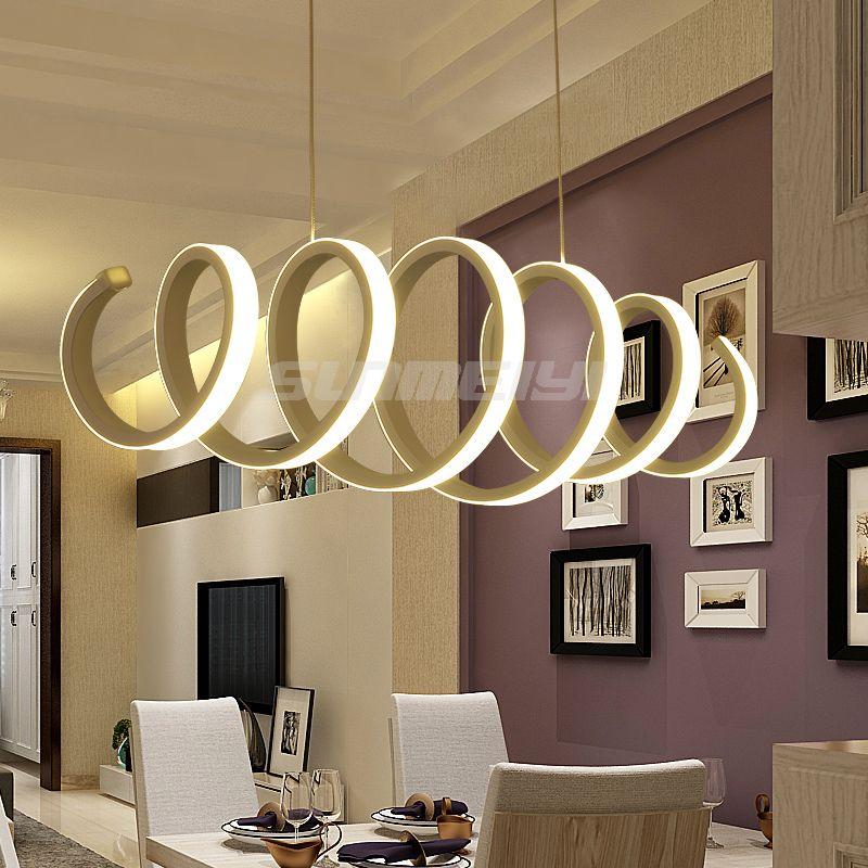 Moderne Led-pendelleuchte für Küche Esszimmer Weiß Pendelleuchte für