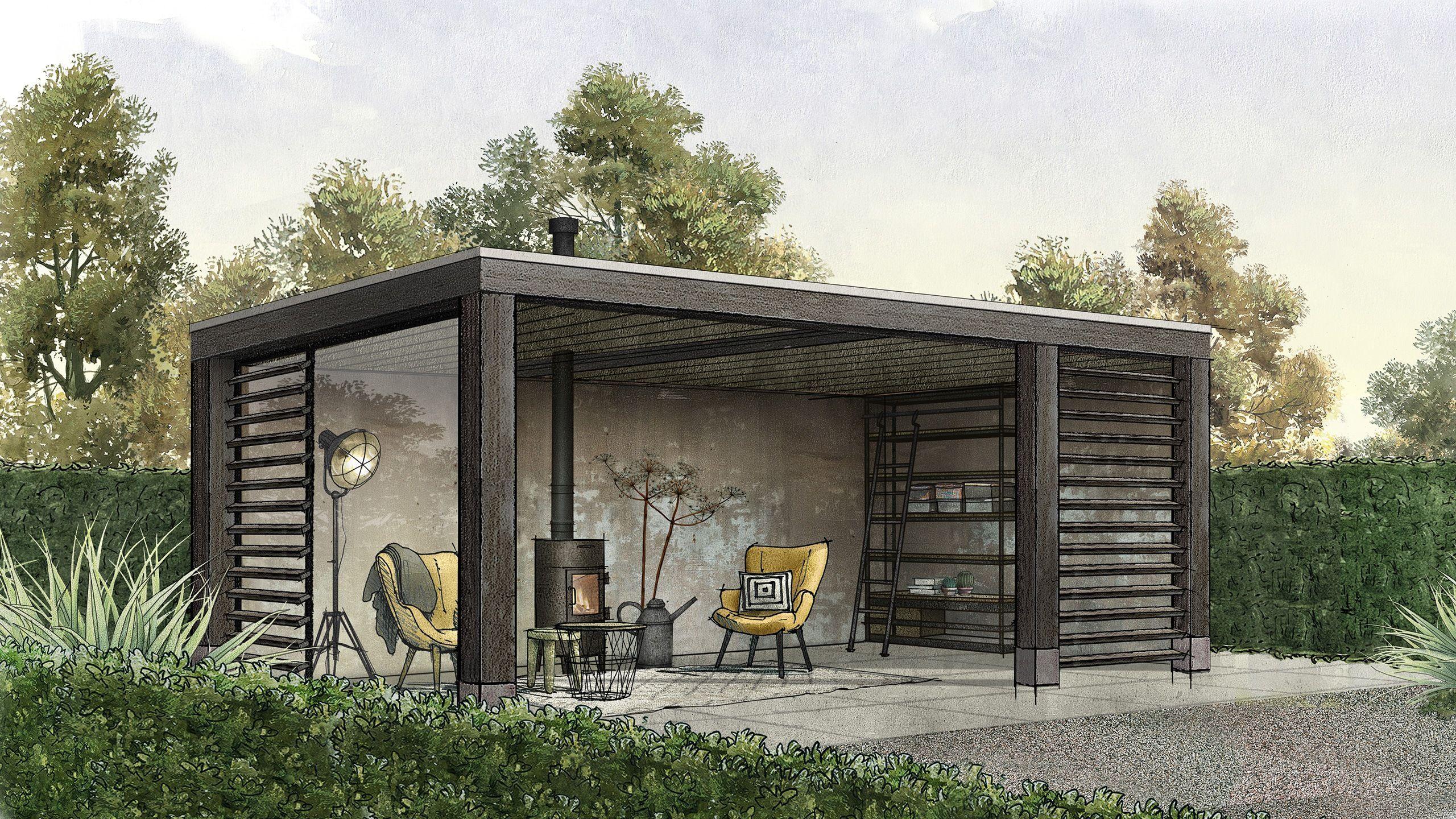 De Gaev Serie Combineert Hout Met Beton En Staal Strak Modern Maar Altijd Warm Een Luxe Overkapping Plany Besedki Dizajn Patio Na Zadnem Dvore Zadnij Dvorik