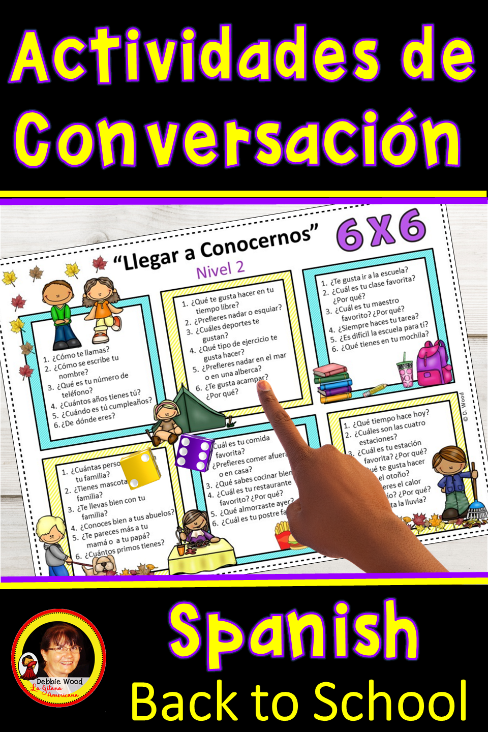 Are You Looking For Fun Engaging Spanish Activities For Back To School This Fall Help Your Learning Spanish Vocabulary Getting To Know You Learning Spanish