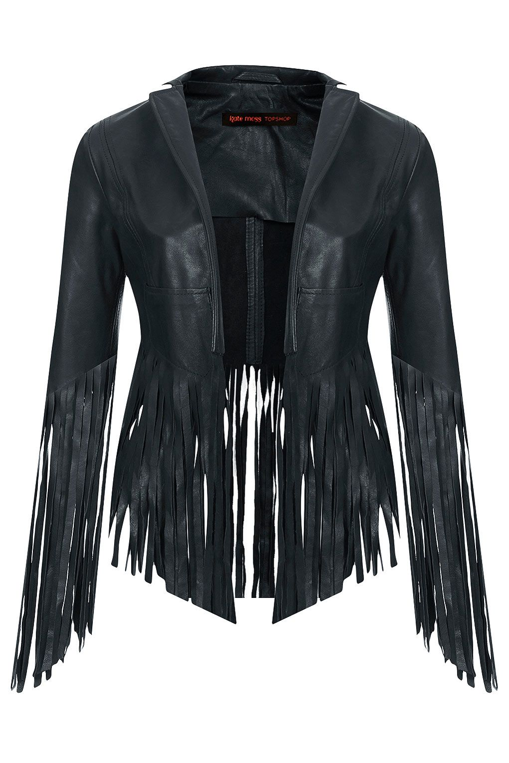 e14675ec4 Fringed Leather Jacket by Kate Moss for Topshop - Jackets & Coats ...