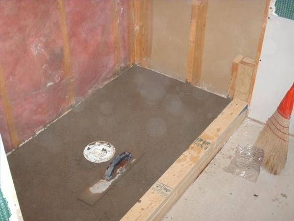 How To Put A Rubber Liner In A Shower Stall Shower Pan Liner