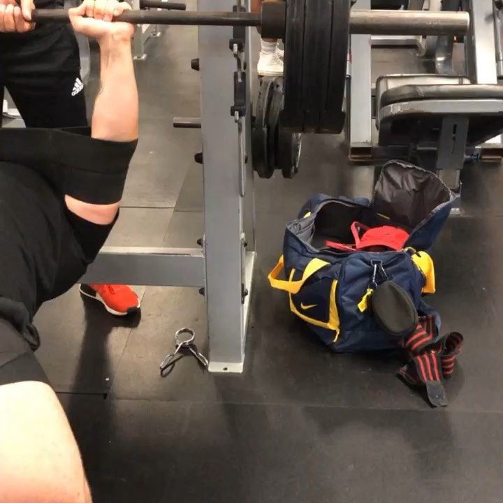 315x7 overload press w/ @marksmellybell @mbslingshot crazy chest workout today!! • • • #gy...
