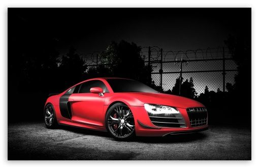 Red Audi R8 GT HD Desktop Wallpaper Widescreen High Definition