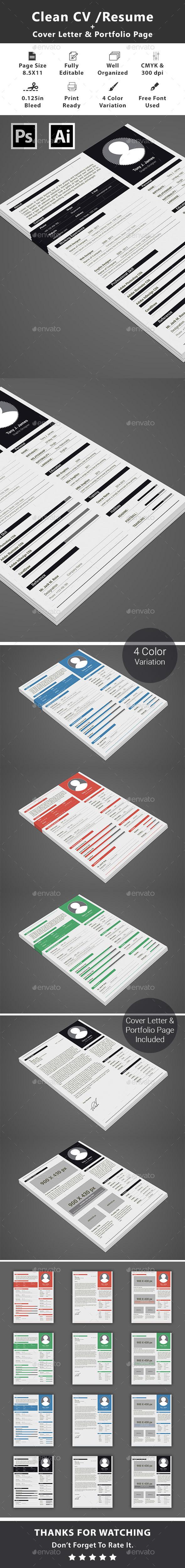 Clean CV/Resume Resumes Stationery Resume words skills
