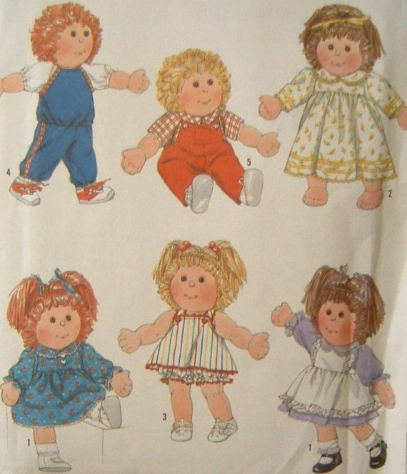 Vintage Baby Doll Clothes Sewing Pattern Cabbage Patch