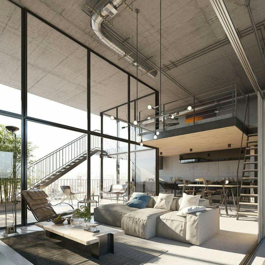 Industrial Kitchen Windows: Diseño Casas Modernas