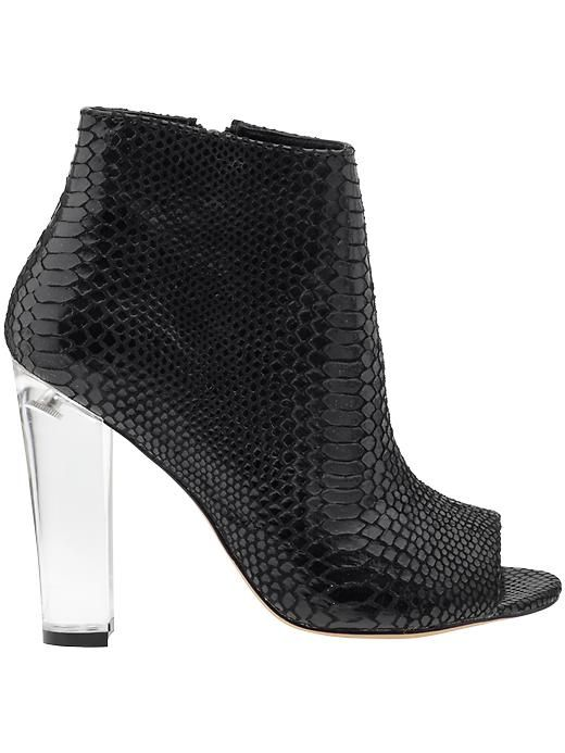 817ffa8a7f92 Steve Madden Majestic shooties (remnicscent of Anthropologies Lilea  shooties). Black snakeskin