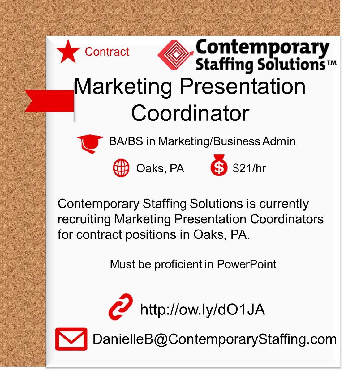 CSS is hiring Marketing Presentation Coordinators 21