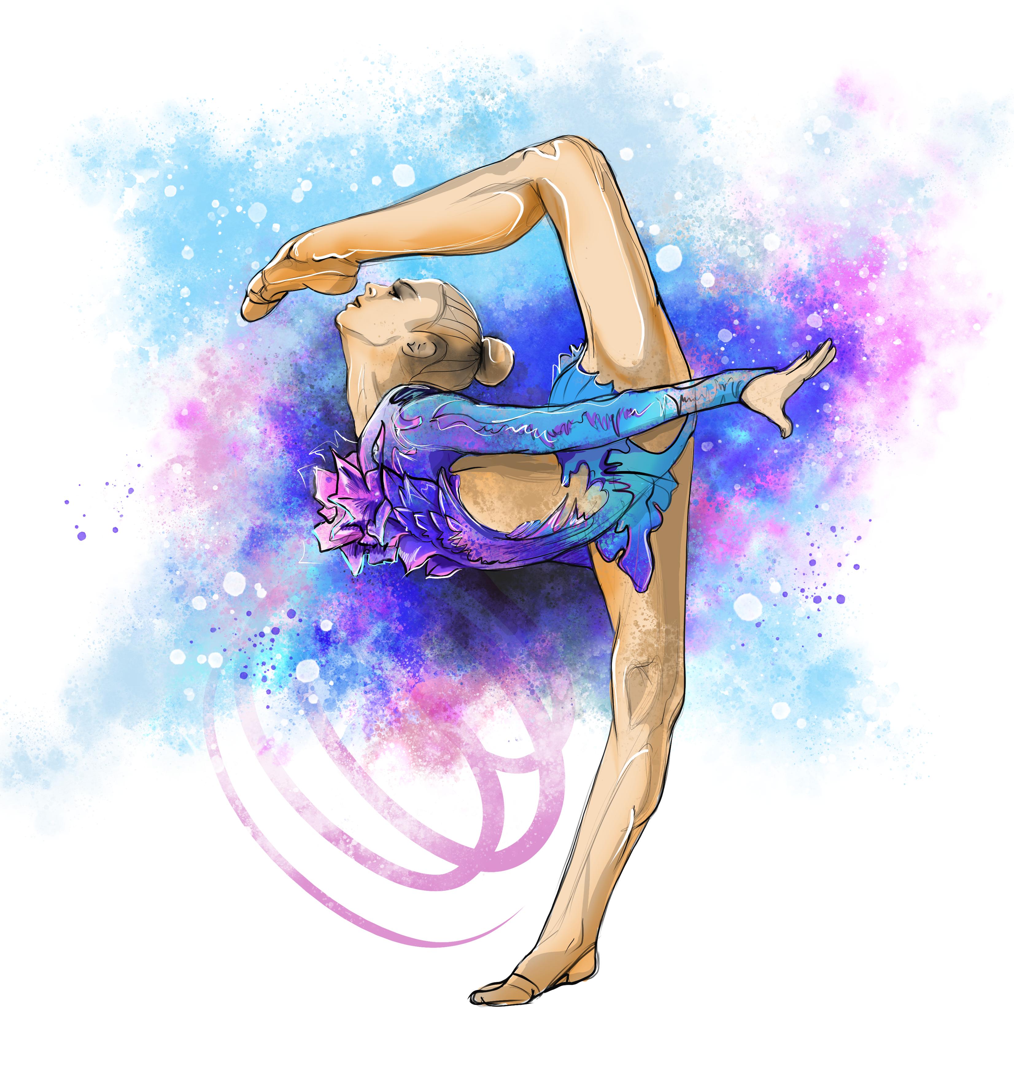 Картинки гимнасток по художественной гимнастике для распечатки