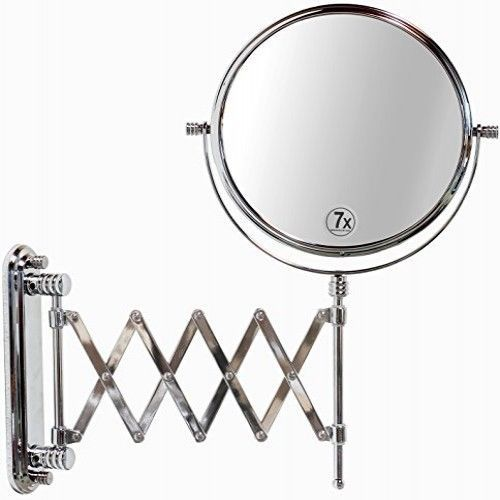 Wall Mount Mirror Makeup Shaving Magnification 2 Sided Adjustable
