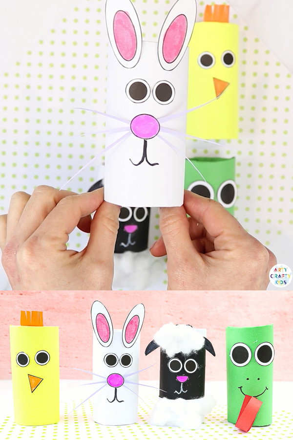 Toilet Paper Roll Spring Animal Crafts