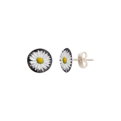 White and yellow wild daisy earrings. #elegant #pretty #flowers #floral #girly