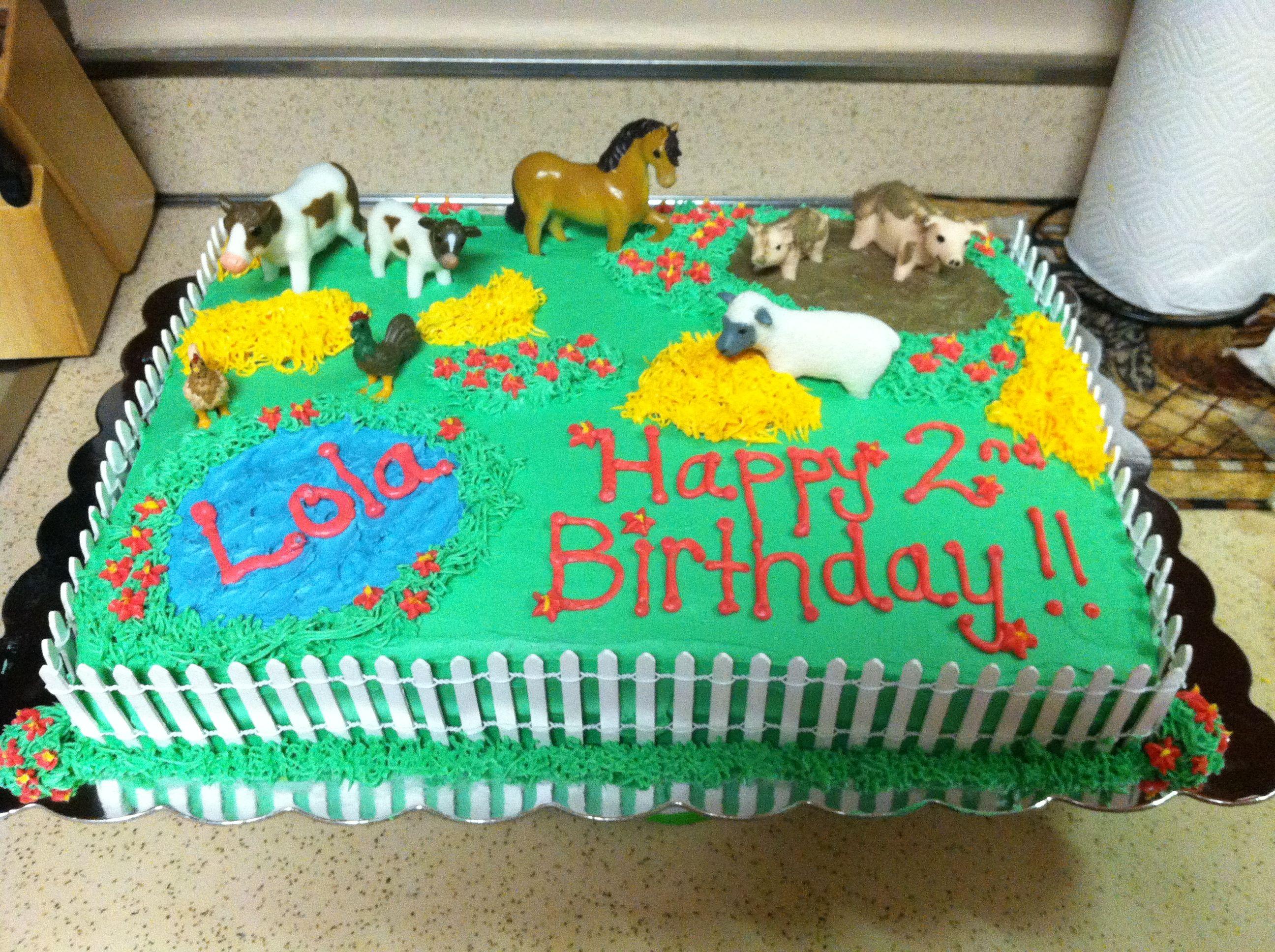 Farm Animal Cake Farm Animal Cakes Barnyard Cake Farm Cake