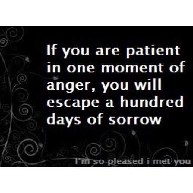 If You Are Patient In One Moment Of Anger You Will Escape A Hundred Days Of Sorrow Thought Provoking Quotes Meaningful Quotes Words