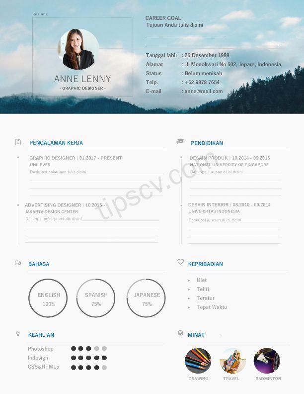 Download contoh cv kreatif doc pdf diah ayu pinterest template download contoh cv kreatif doc pdf yelopaper Choice Image