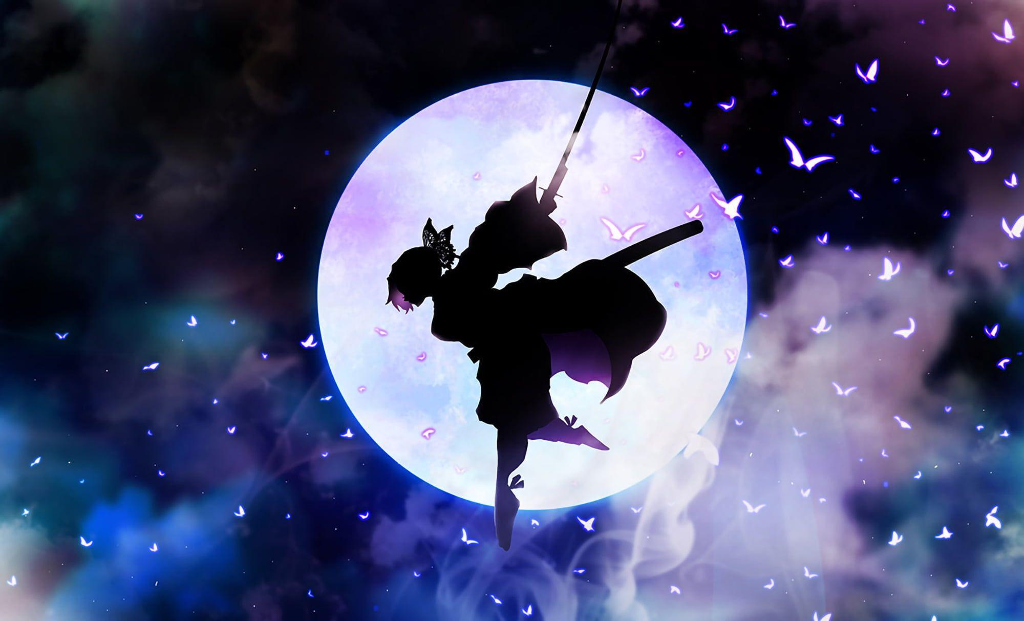 Anime Demon Slayer Kimetsu No Yaiba Shinobu Kochou 1080p Wallpaper Hdwallpaper Desktop Hd Anime Wallpapers Anime Wallpaper Anime Demon