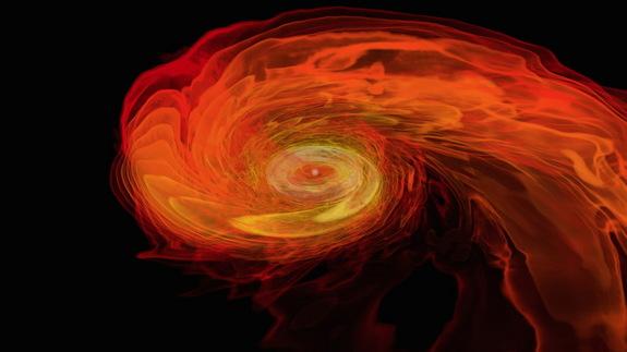 Watch 2 Neutron Stars Merge and Form Black Hole (Video)