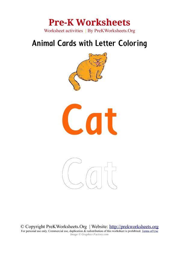 Pre-K Animal Flashcards