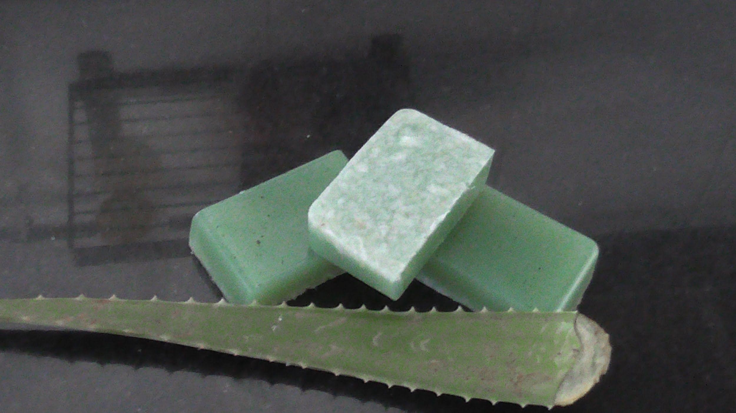 como hacer jabon de glicerina con aloe vera