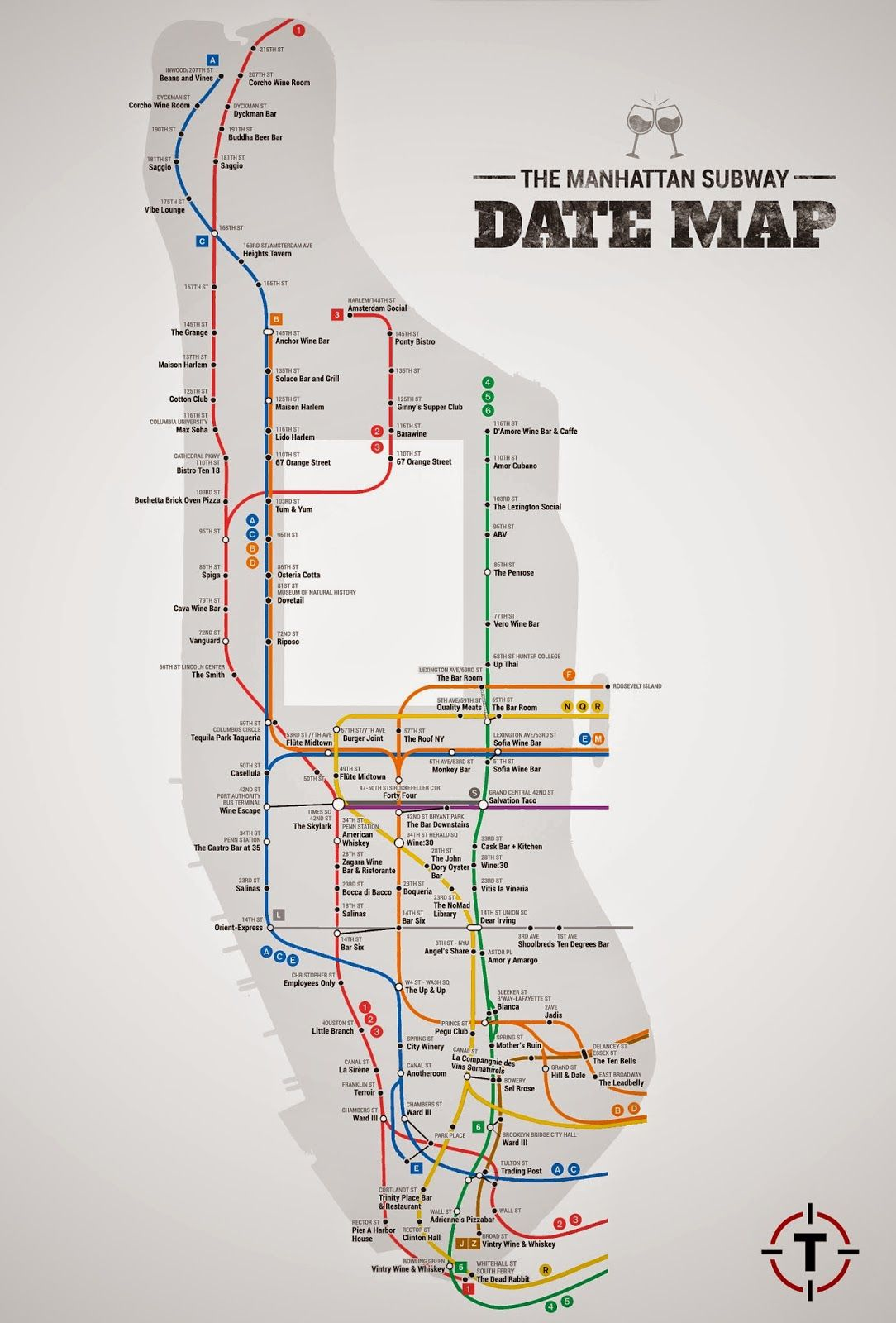 Date Map - MTA | This City Is Rad | Nyc restaurants, Nyc ...