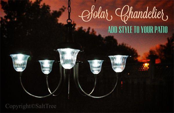 diy solar chandelier | DIY solar light chandelier | Make your home your own