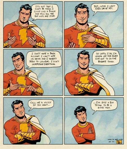 """Shazam by Evan """"Doc"""" Shaner I LOVE THIS. HE'S ONE OF MY FAVORITE HEROES"""