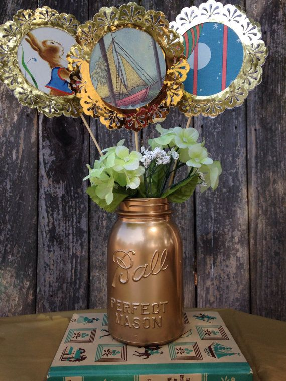 Little Golden Book theme center piece by VOCrafted on Etsy