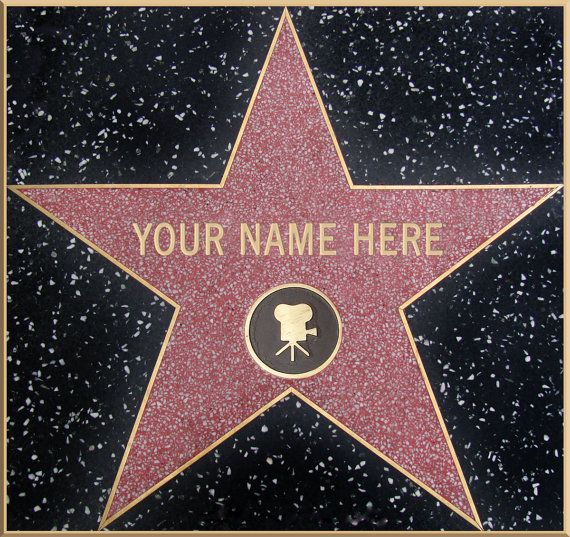 Your Name On Hollywood Blvd Walk Of Fame Star Personalized Hollywood Walk Of Fame Hollywood Blvd
