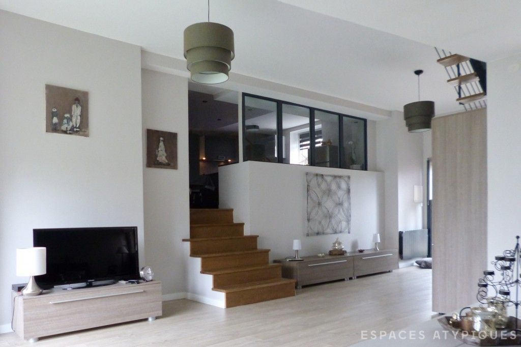 Orgeval, Villennes-sur-Seine  Maison XIXème rénovée dans un esprit - Plan Architecture Maison 100m2