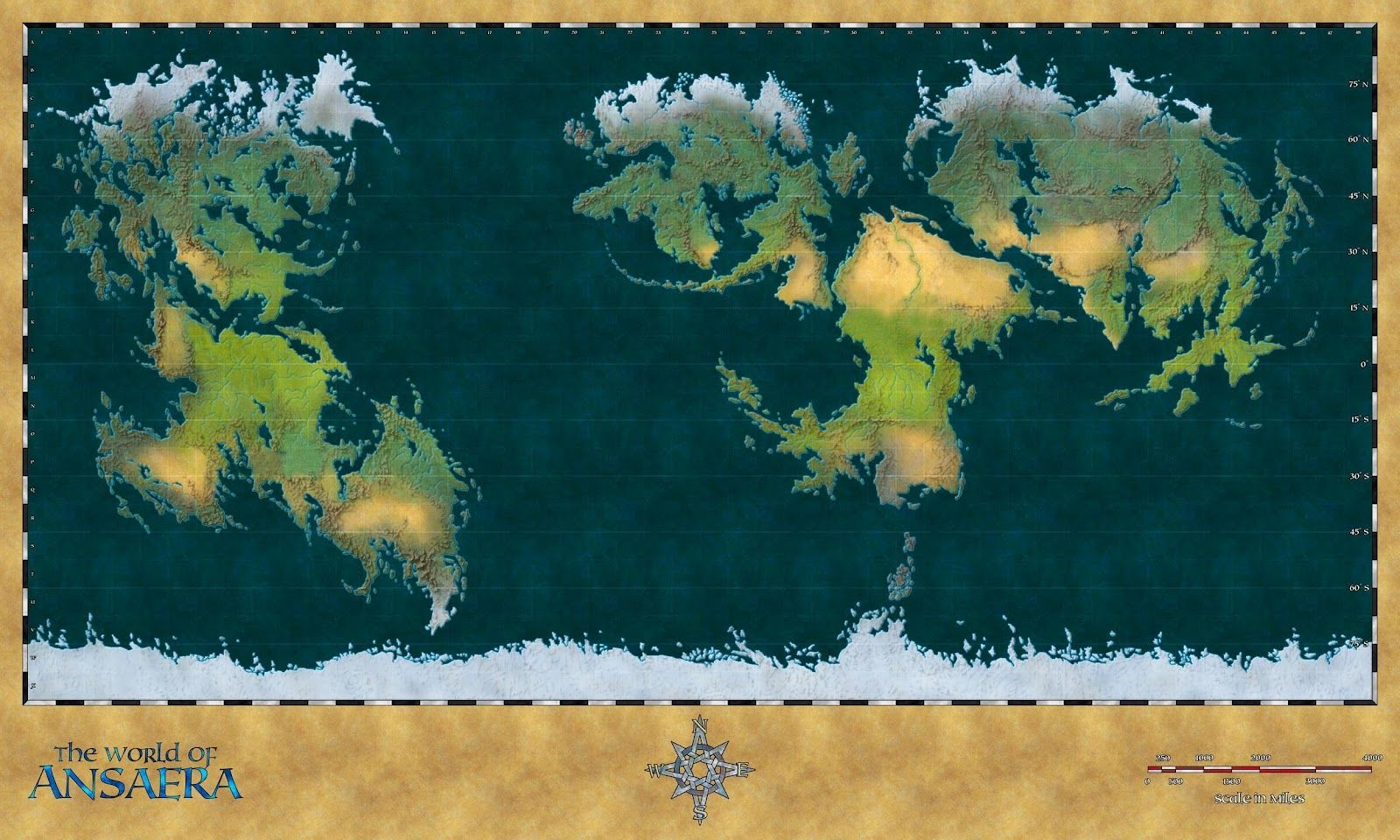 World Map Of Eriond By Arsheesh Fantasy Maps Pinterest And D Maker on