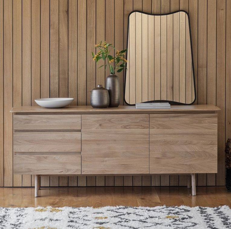 Gallery Direct Madrid Oak Sideboard In 2020 Oak Sideboard Large