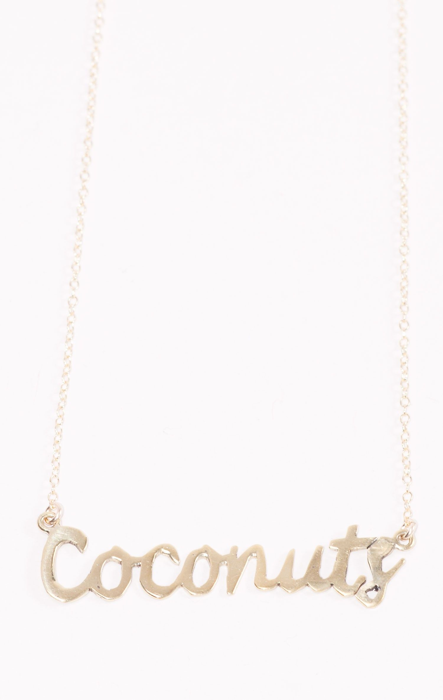 68f14c801 Coconuts word necklace   bijoux!   Jewelry, Ring earrings, Jewelry ...