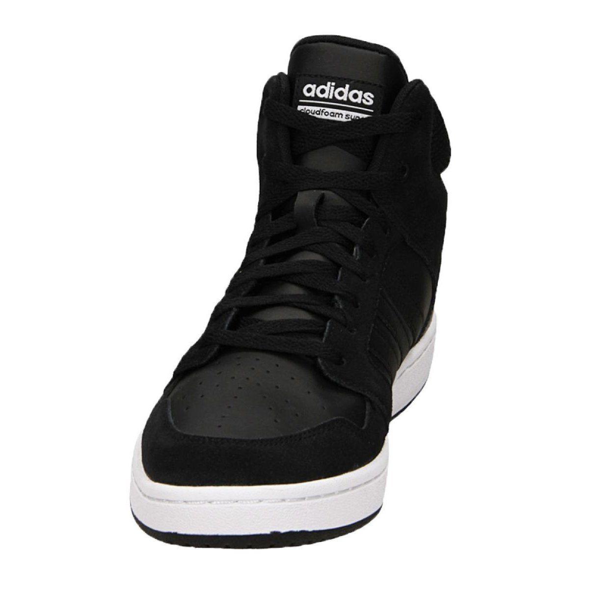 Adidas Cloudfoam Super Hoops Mid M Bb9920 Shoes Black Adidas Cloudfoam Black Shoes Adidas