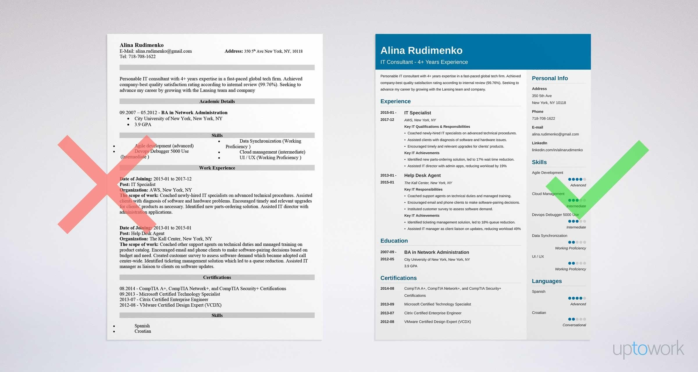 A stepbystep guide to writing an IT resume. 20