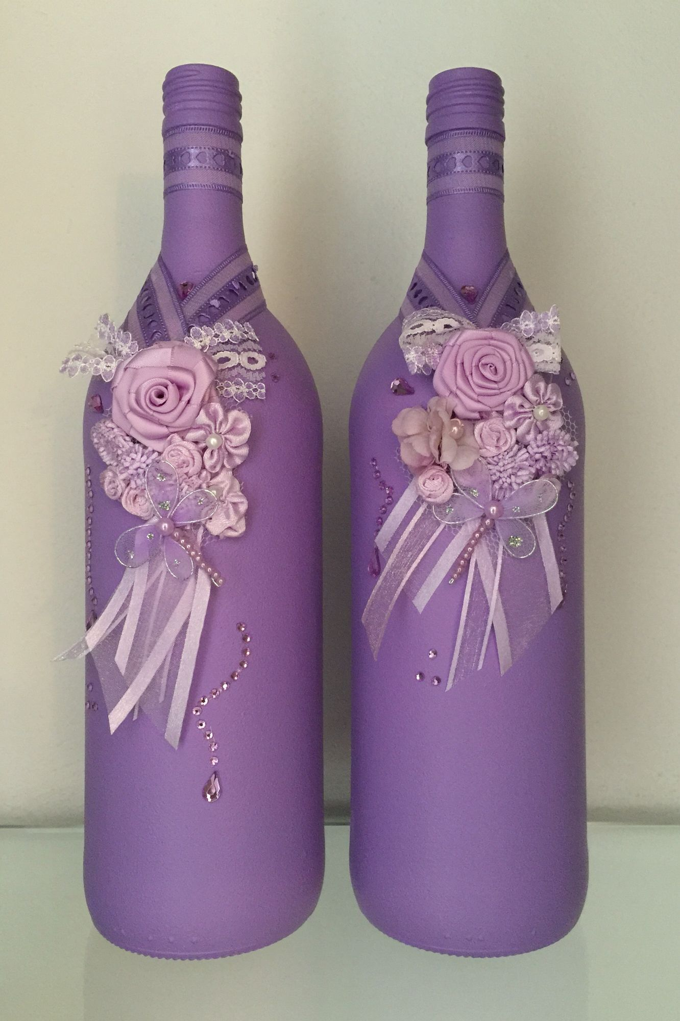 Botellas Decoradas Navideñas Botellas Decoradas Decorar Botellas Pinterest