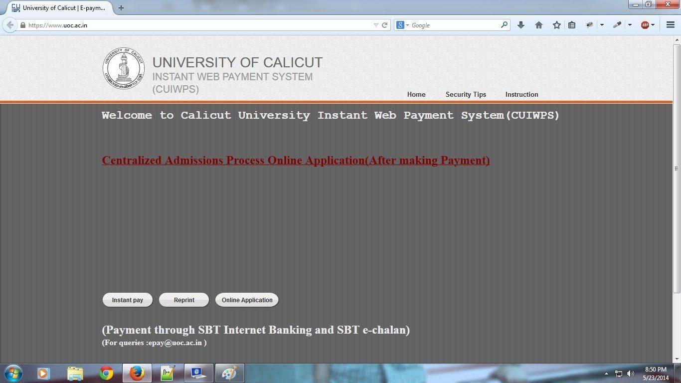 76bd27c0f87bbca3a5094ea0ea1562be Online Application Form For Degree Courses In Calicut University on