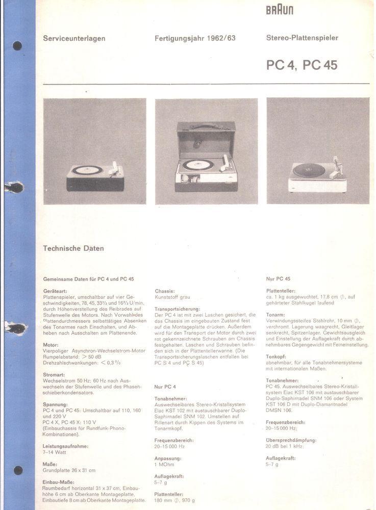 braun service manual f r pc 4 45 design braun pinterest rh pinterest com braun 5491 service manual braun 3719 service manual