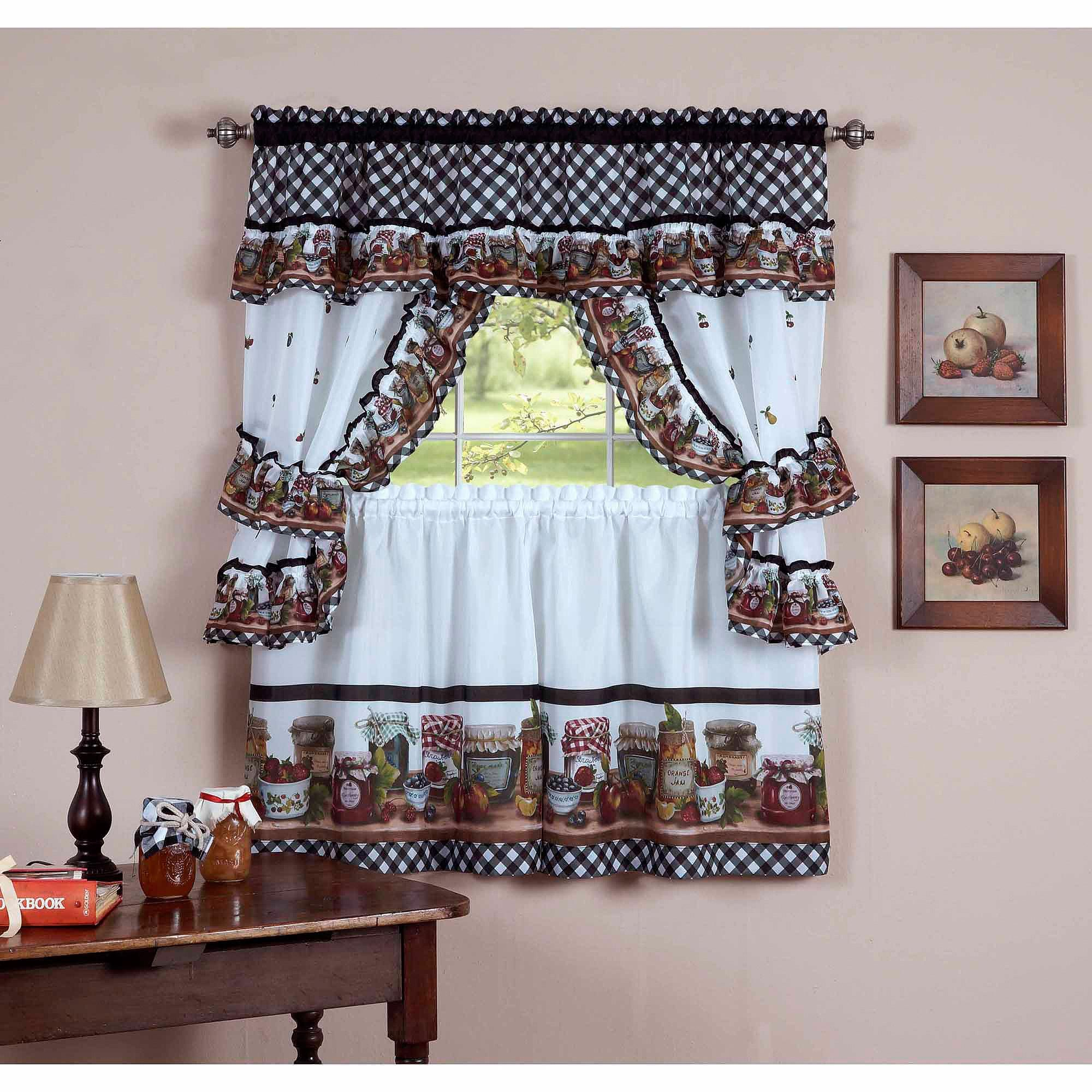 regard curtains kitchen sets set ab curtain to with wood piece tier