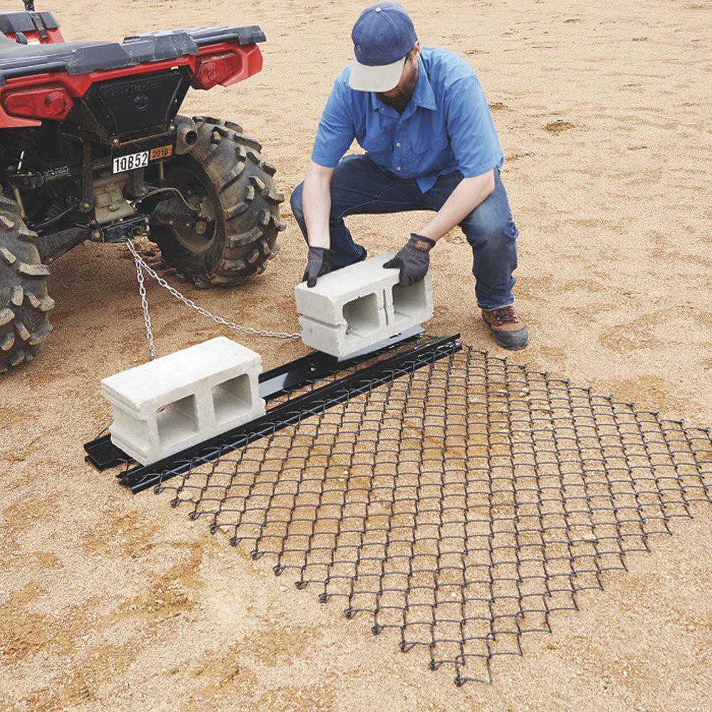 Yard Tuff 5 X 4 Foot Steel Durable Chain Rake Field Leveling Atv