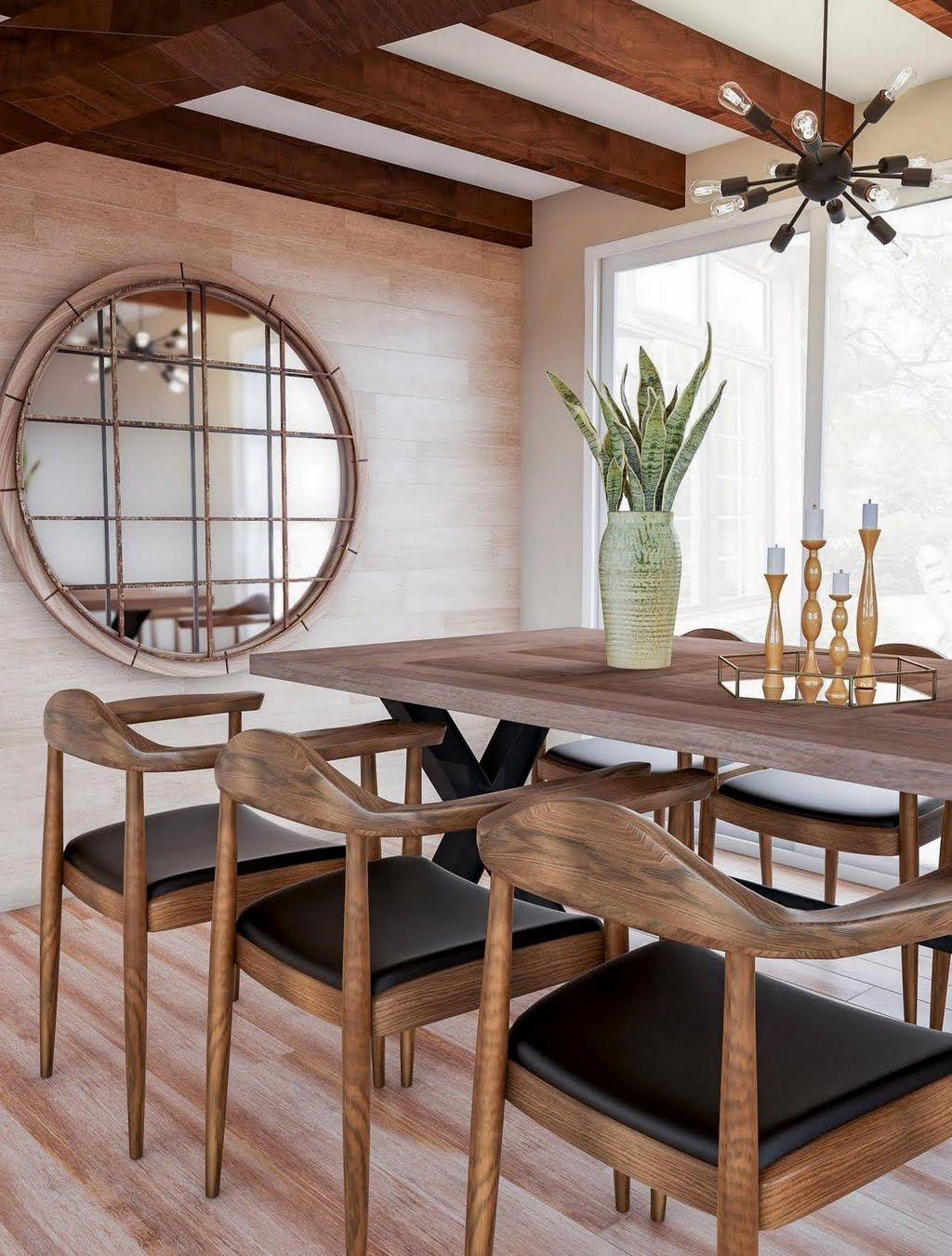 Shop Our Dining Room Department To Customize Your Modern Dining Room In Rich Wood Tones Today At T Modern Dining Room Wood Floor Dining Room Dining Room Design