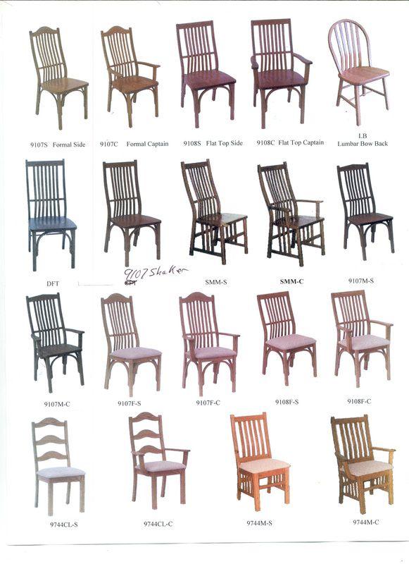 Chair Styles   Kinney Custom Designs
